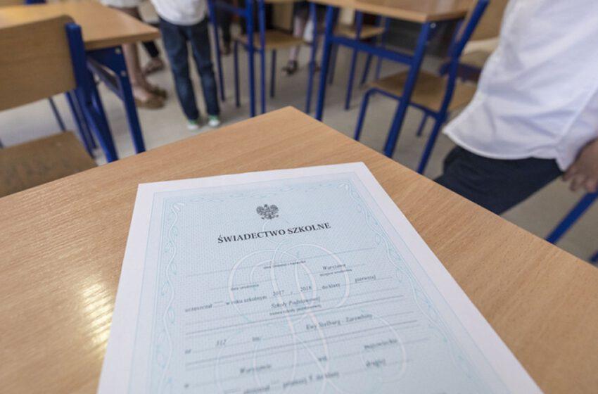 Nieobowiązkowy odbiór świadectw szkolnych
